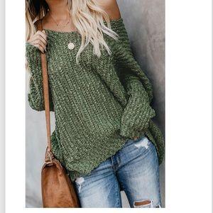 Sweaters - LAST 1! Warm My Soul Knit Off Shoulder Sweater